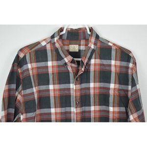 J CREW Large Plaid 2 Ply Cotton Long Sleeve Shirt